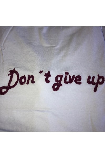 WZ T-SHIRT DON'T GIVE UP BRANCA