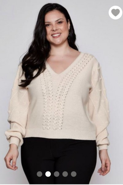 BLUSA TRICOT NUDE